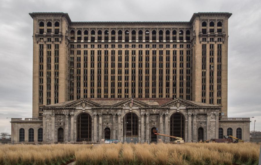 Центральный железнодорожный вокзал, Мичиган, Детройт (Michigan Central Station), США