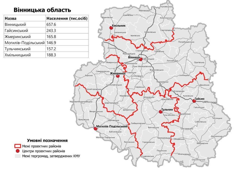 винницкая область районы