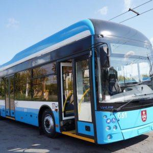 В Виннице сделали пятый троллейбус с автономным ходом «VinLine»